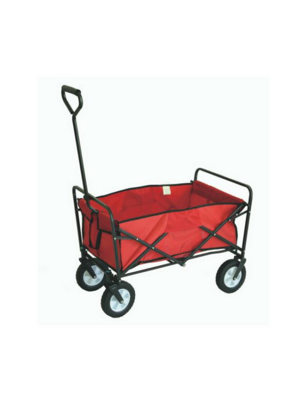 opvouwbare bolderkar bolderwagen inklapbaar rood