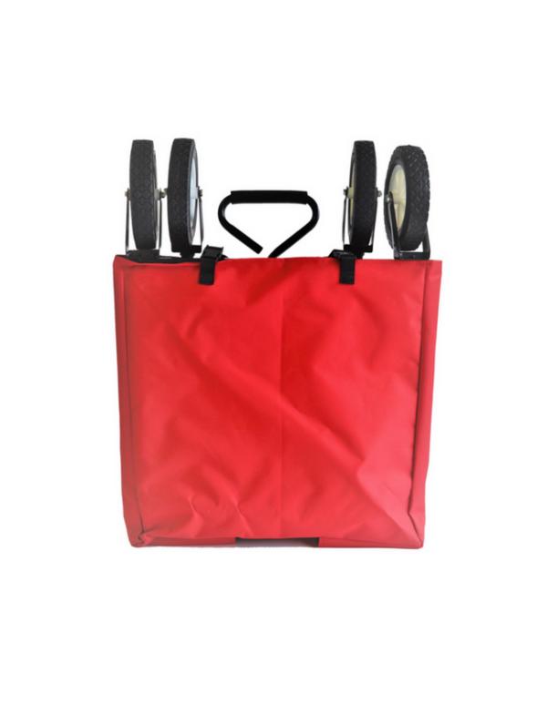 opvouwbare bolderkar bolderwagen inklapbaar rood opbergzak