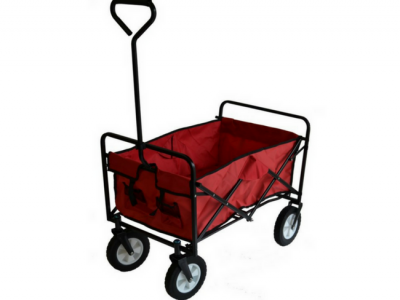 opvouwbare bolderkar bolderwagen strandkar inklapbaar rood