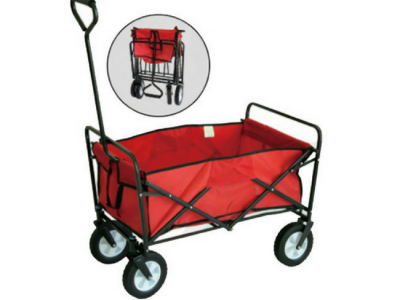 opvouwbare bolderwagen/bolderkar inklapbaar rood