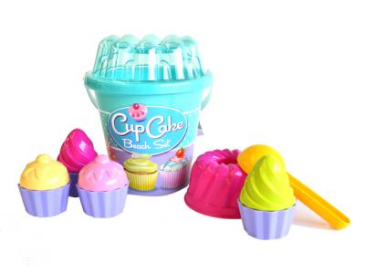 strandemmer cupcake blauw