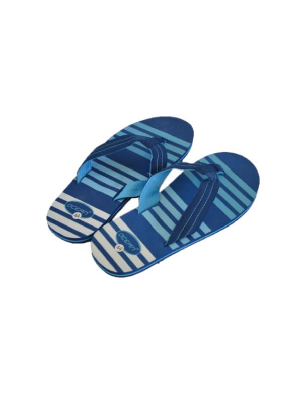 badslipper blauw man