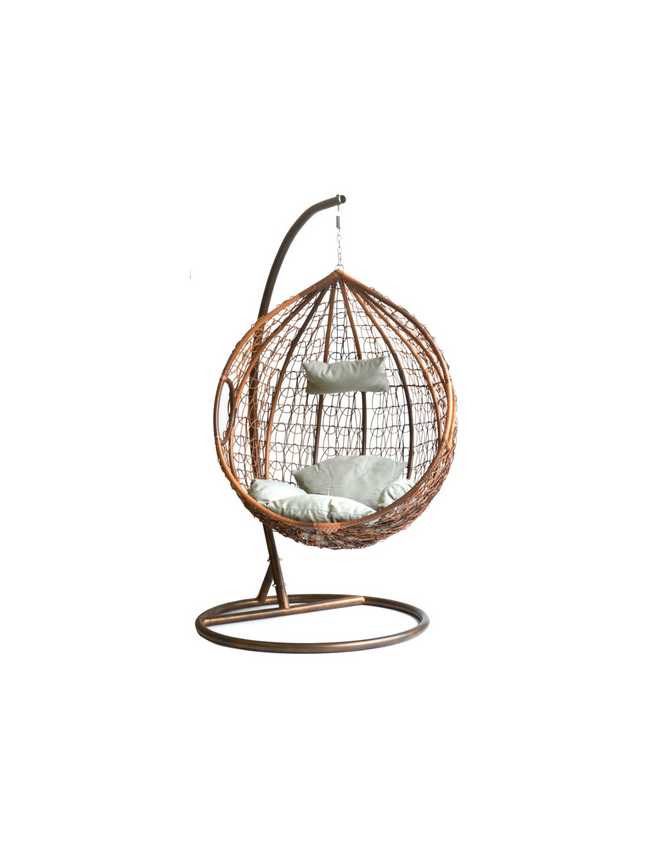 Hangstoel Egg Chair.Hangstoel Eggy Schommelstoel Rattan