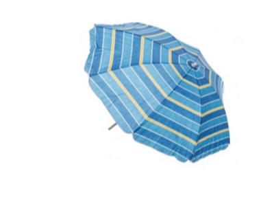 parasol strand blauw