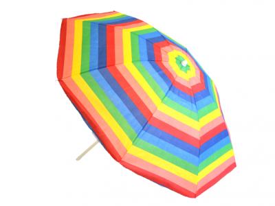 strand parasol regenboog