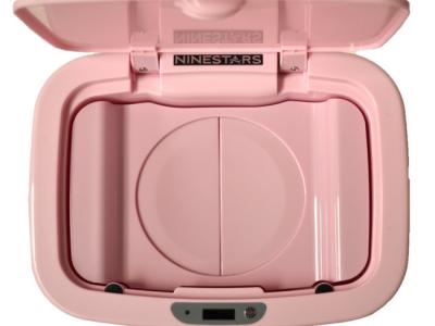 luieremmer prullenbak thrashcan ninestars sensor automatisch roze deksel