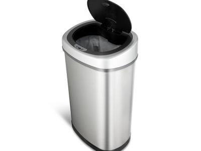 sensor prullenbak afvalbak single thrashcan sensor automatisch ninestars 50liter roestvrij staal