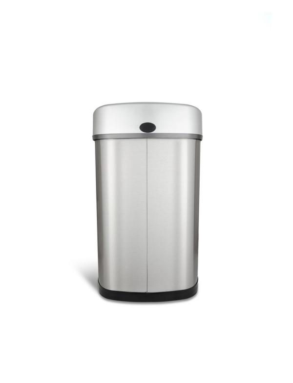 sensor prullenbak afvalbak single thrashcan sensor automatisch ninestars 50liter roestvrij staal achterkant