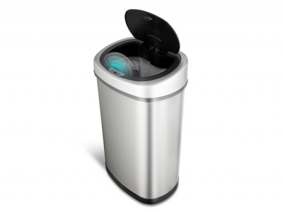 sensor prullenbak afvalbak single thrashcan sensor automatisch ninestars 50liter roestvrij staal hot