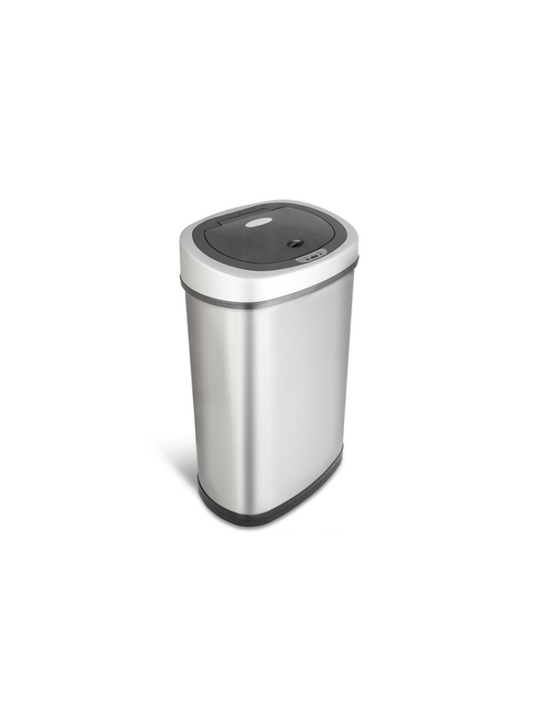 sensor prullenbak afvalbak single thrashcan sensor automatisch ninestars 50liter roestvrij staal new