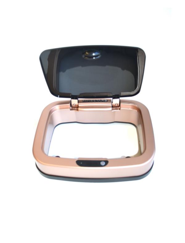 prullenbak afvalbak thrashcan pedaalemmer sensor ninestars automatisch 12liter goud deksel