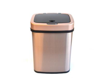 prullenbak afvalbak thrashcan pedaalemmer sensor ninestars automatisch 12liter goud totaal