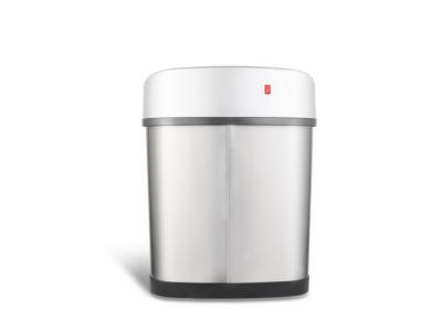 prullenbak afvalbak thrashcan pedaalemmer sensor ninestars automatisch 12liter roestvrij staal