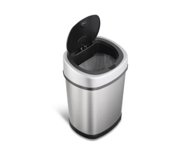 prullenbak afvalbak thrascan pedaalemmer sensor ninestars automatisch 12liter roestvrij staal klein