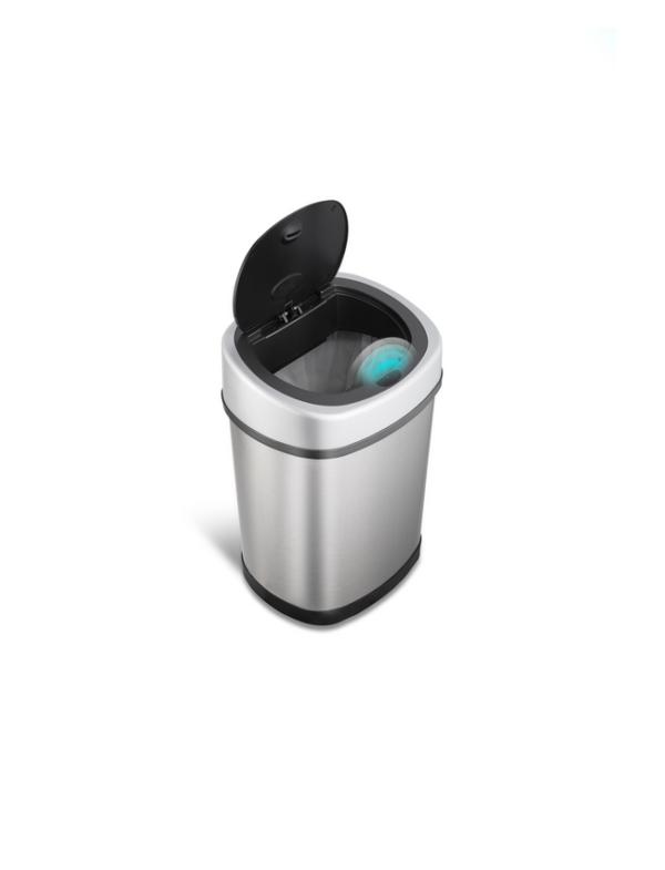 prullenbak afvalbak thrashcan pedaalemmer sensor ninestars automatisch 12liter roestvrij staal open