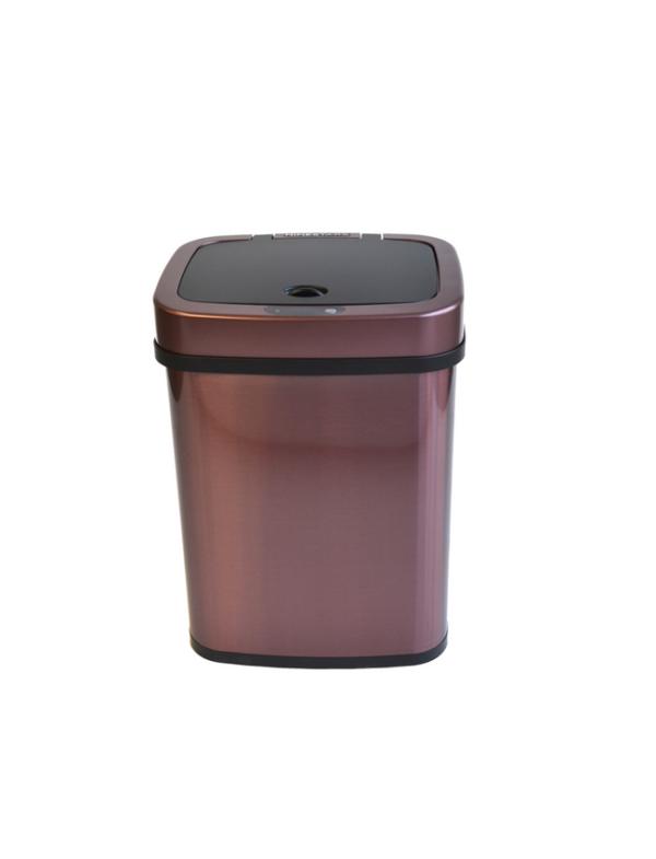 prullenbak afvalbak thrascan sensor 12liter rosé golden pedaalemmer automatisch roestvrij staal