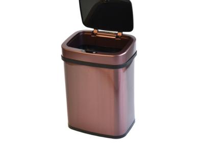 prullenbak afvalbak thrashcan sensor 12liter rosé golden pedaalemmer automatisch roestvrij staal open