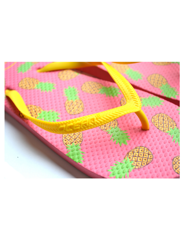 teenslippers dames zomer badslippers ananas roze geel