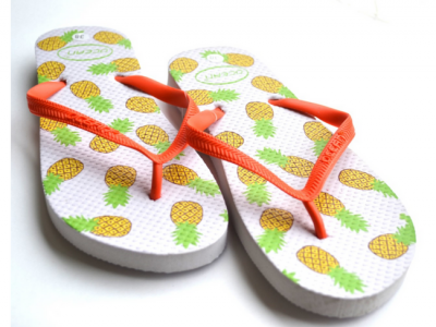 teenslippers dames zomer badslippers ananas whit