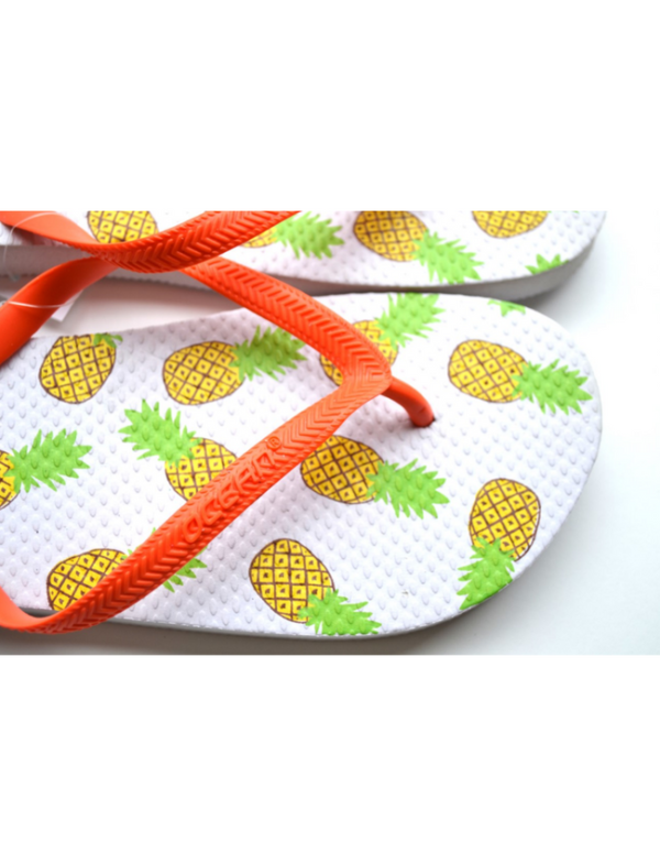 teenslippers dames zomer badslippers ananas white