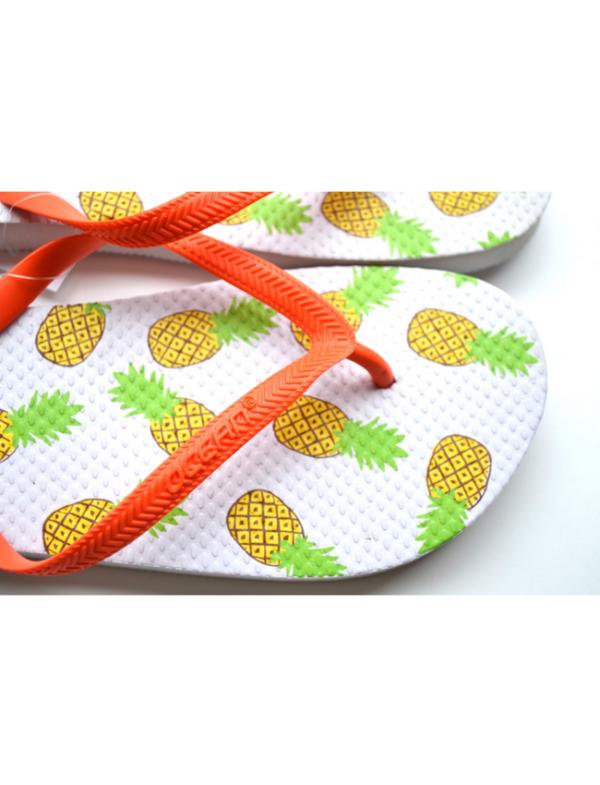 teenslippers dames zomer badslippers ananas white