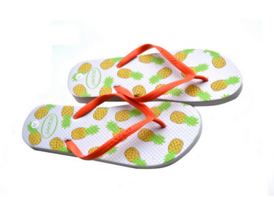teenslippers dames zomer badslippers ananas wit