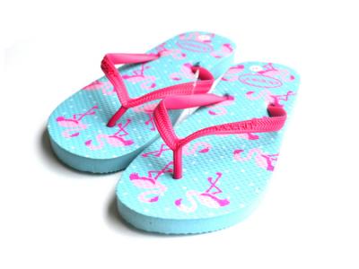 teenslippers dames zomer badslippers flamingo aqua twee