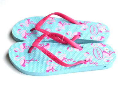 teenslippers dames zomer badslippers flamingo aqua