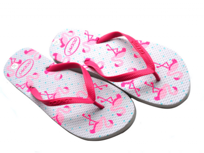 teenslippers dames zomer badslippers flamingo roze