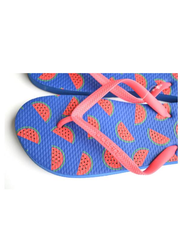 teenslippers dames zomer badslippers watermeloen blauw strand