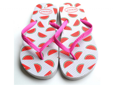 teenslippers dames zomer badslippers watermeloen wit