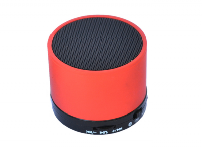 bluetooth speaker rond mini rood