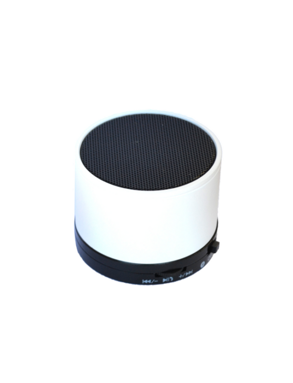 bluetooth speaker rond mini wit