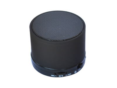 bluetooth speaker rond mini zwart
