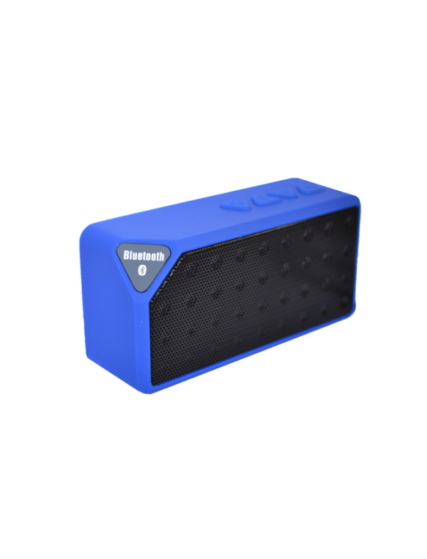 bluetooth speaker square mini blauw