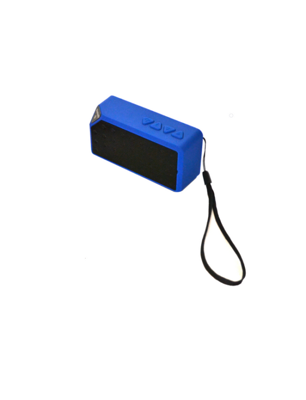 bluetooth speaker square mini blauw luidspreker