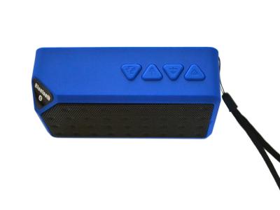 bluetooth speaker square mini blauw luidspreker fm