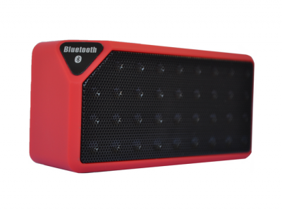 bluetooth speaker square mini rood