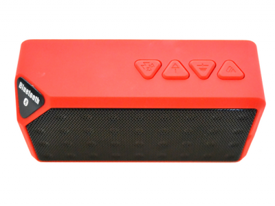 bluetooth speaker square mini rood luidspreker