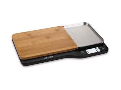 keukenweegschaal scale bamboo snijplank rvs xl