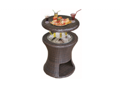 koeltafel coolbar wicker hangtafel sfeer
