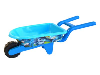 strandspeelgoed kruiwagen beach toys 6delig blauw strand