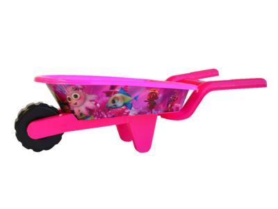 strandspeelgoed kruiwagen beach toys 6delig roze