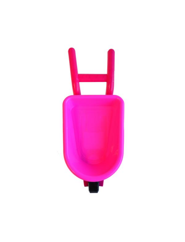 strandspeelgoed kruiwagen beach toys 6delig roze boven