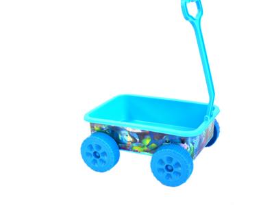 strandspeelgoed beach toys wagentje 6delig blauw