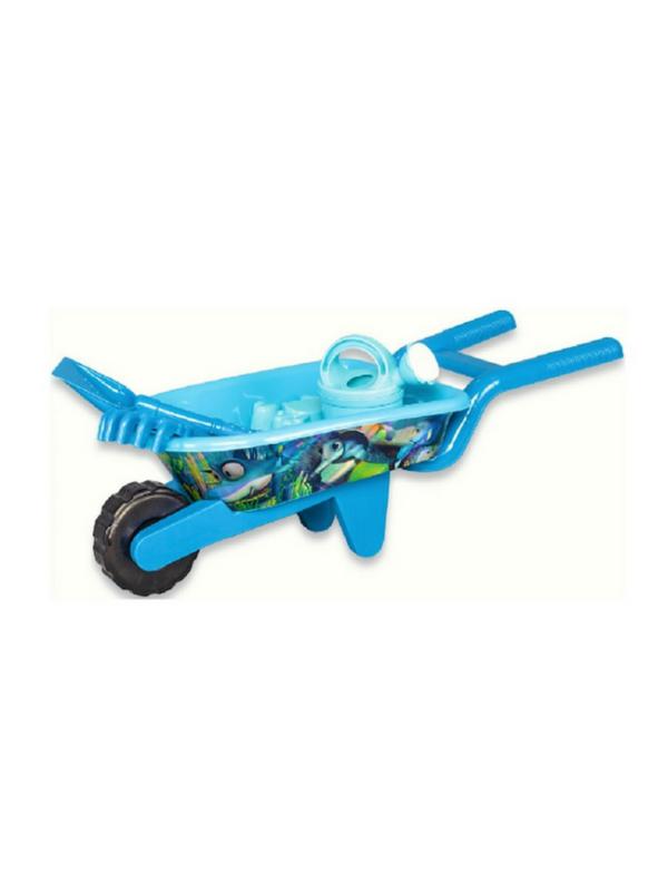 strandspeelgoed kruiwagen beach toys blauw