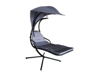 ligstoel zweefstoel swinging chair grijs