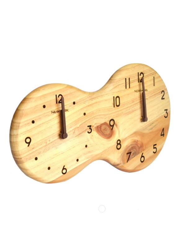 houten klok dubbel