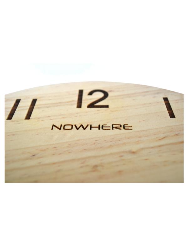 houten klok dubbel wereldtijd