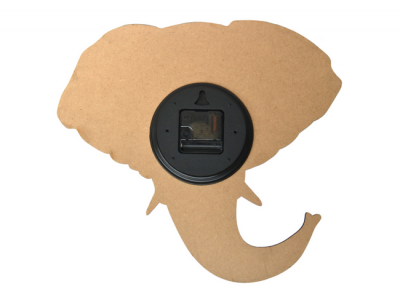 houten klok olifant